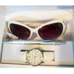 Luis Cardini Women Watch Gift Set, Pen, Sunglasses