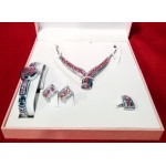 4PCS Women watch gift set. Watch, Necklace, Earrings, rings